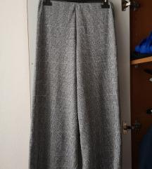 Karirane široke hlače