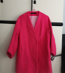 Zara rozi teksturirani kaput veličina M/L