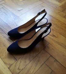 Plave kožne sandale br. 39