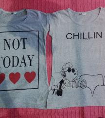 LOT - 2 sive majice, Snoopy&❤️❤️❤️