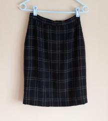 Šivana vintage karirana suknja vel.32/34