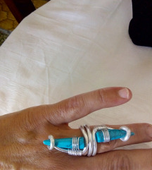 srebreno tirkizni prsten