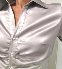 Srebrna metalic košulja
