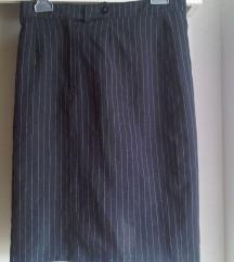 Poslovna pencil midi suknja šos