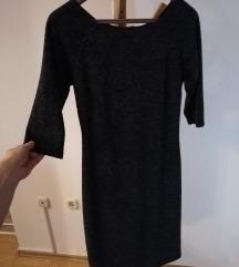 Plavo siva strukirana haljina vel. 38/M