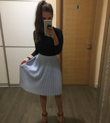 REZERVIRANA Prekrasna Koton Plava Suknja Knit