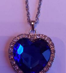 Ogrlica plavo srce Titanic