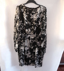 Nova crno bijela Di Caprio haljina XL