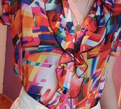 Vintage šarena bluza