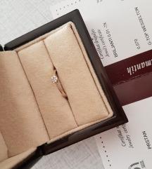 Prsten bijelo zlato celje