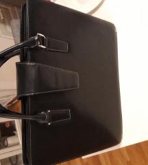 Crna kožna poslovna torba Gelko
