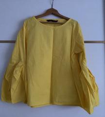 Žuta bluza sa zvonolikim rukavima