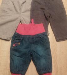 Termo hlače za cure vel.62-68 LOT 3kom