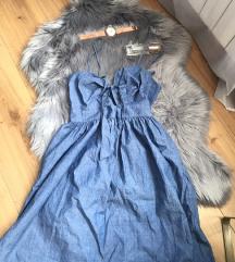 Zara denim midi haljina