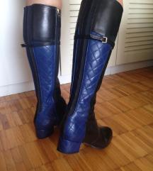 L.K. Bennett plavo crne visoke čizme