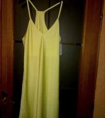 Žuta svilena spavaćica NOVO