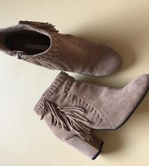 H&M Nude bez cizme (prava koža)