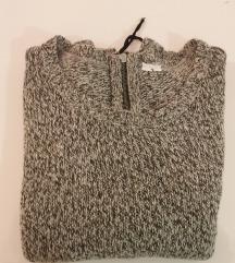 Sivi oversized pulover