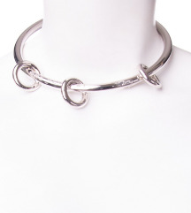 MM6 MAISON MARTIN MARGIELA ogrlica srebrne boje
