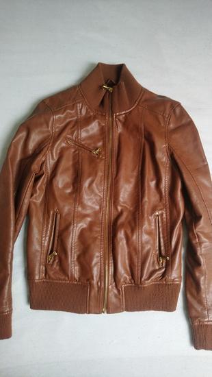Kožna konjak jakna Springfield AKCIJA