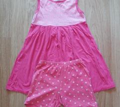 Roza haljina i kratke hlacice 110-116
