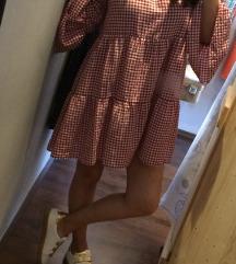 Zara haljina kariranog uzorka