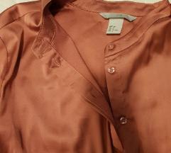 H&M satenska bluza/kosulja boje lososa