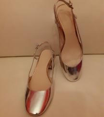 Zara sreberne sandale