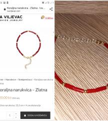 Iva Viljevac Koraljna narukvica -Zlatna