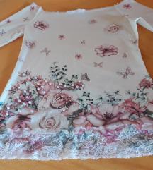 Majica sa perlicama i cipkom