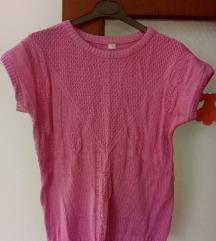 Končana pamučna roza majica