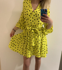Asos neon wrap haljina