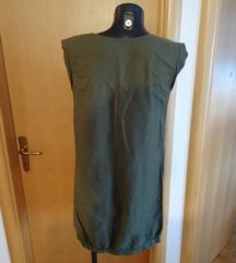 Maslinasta haljina- MIlitary look/ pt ukljucena