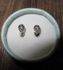 Naušnice od srebra sa cirkonima 925