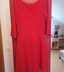 Crvena skater haljinica