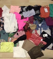 NOVO! veliki lot S-M majice hlace suknje kupaci