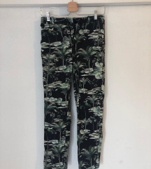 Jungle print skinny hlace