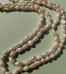 Biserna, dvostruka ogrlica