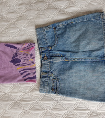 Suknja i majica za djevojčice