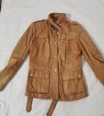 Konjak kožna jakna
