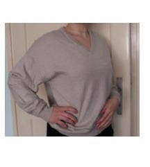 Sivi bež pulover, vesta veličina M/L