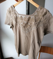 Bež majica kratkih rukava, Zara, S