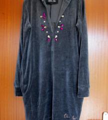 Plišana haljina s kapuljačom S