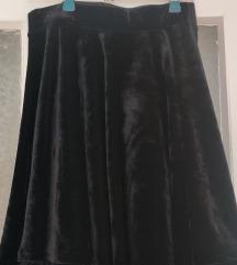 Plišana skater suknja
