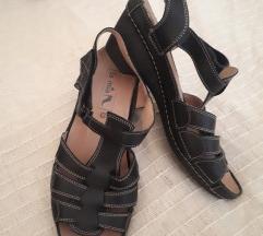 Crne kozne sandale vel.40
