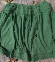 svijetlo zelena suknja L