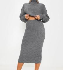 Pencil siva suknja