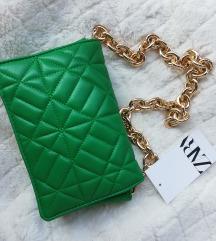 REZZ*NOVA** ZARA Zelena torbica