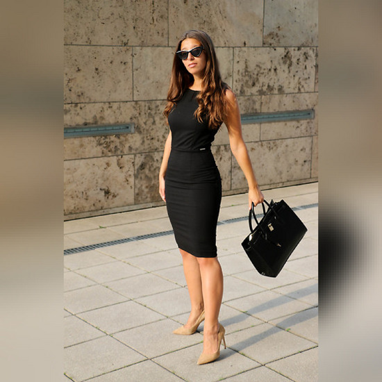 *REZERVIRANA Orsay business look crna haljina