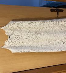 Zara bijela čipkasta haljina